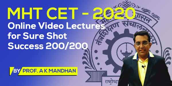 MHT CET - 2020 - Online Video Lectures for Sure Shot Success 200/200