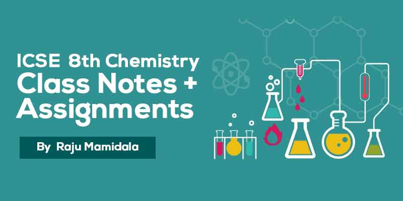 Class VIII ICSE Chemistry  Complete Material along with Assignments