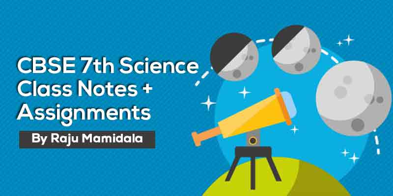 Class VII CBSE Science Complete Material along with Assignments