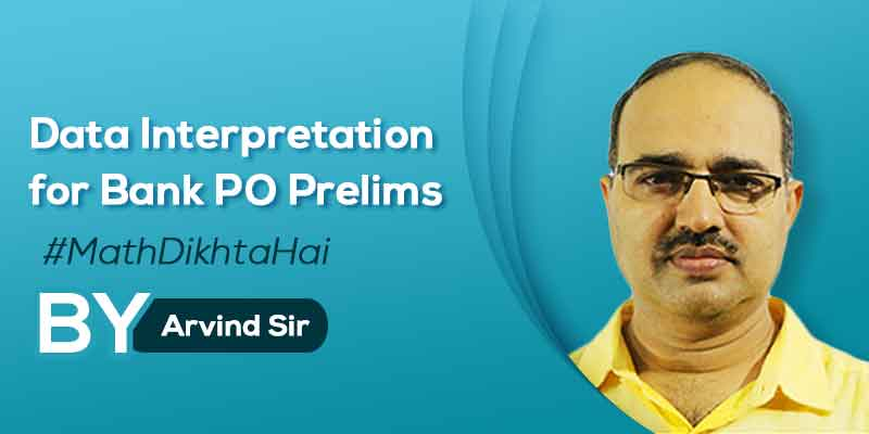 Data Interpretation for Bank PO Prelims (IBPS/SBI/RBI/IBPS RRB)